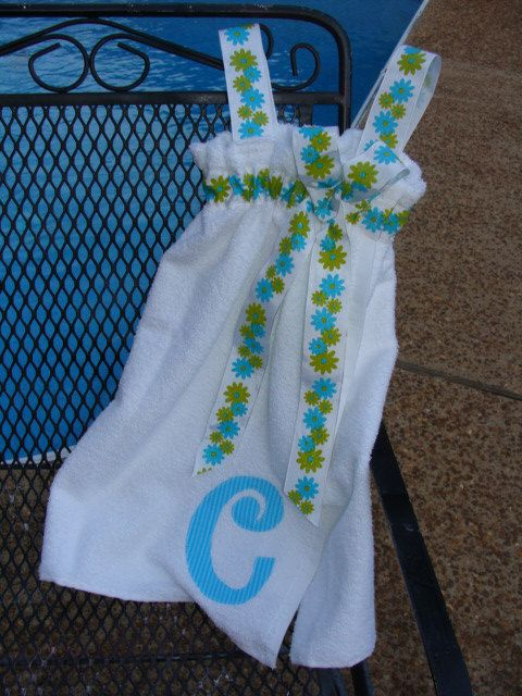 Swimsuit CoverUp / Spa Wrap Personalized by Bumbleblu Designs on Etsy
