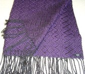 Hand woven shawl are made ​​of wool.