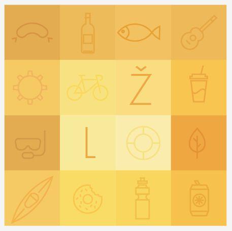 Branding for Zlute Lazne. Sport complex, beach, open air cinema on Vltava river