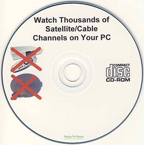 Premium Pro Products TV on PC Software CD-ROM - No Monthly Fees - Get Satellite, Cable, Internet TV andamp