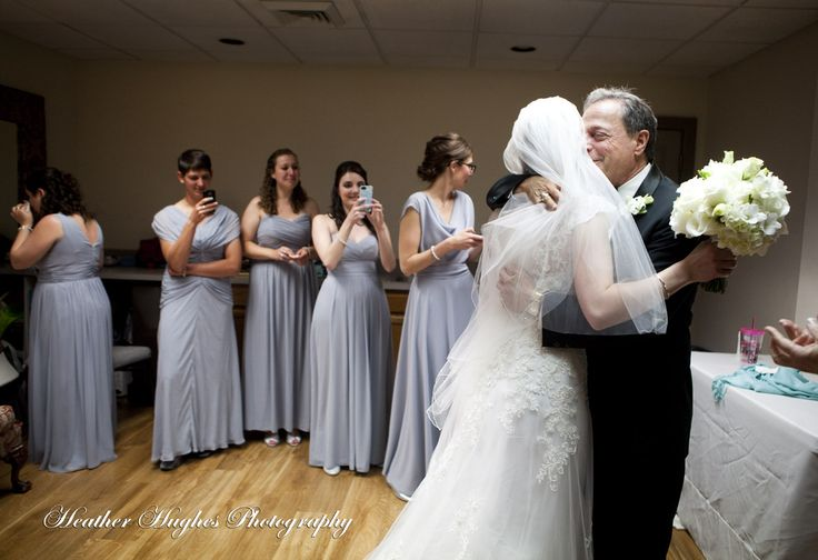 A first look with the father of the bride before their jewish wedding - priceless moment. by Heather Hughes Photography http://www.heatherhughesphotography.com/