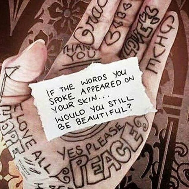 I love this.  #wouldyoubebeautiful #chooseyourwordswisely #loveothers