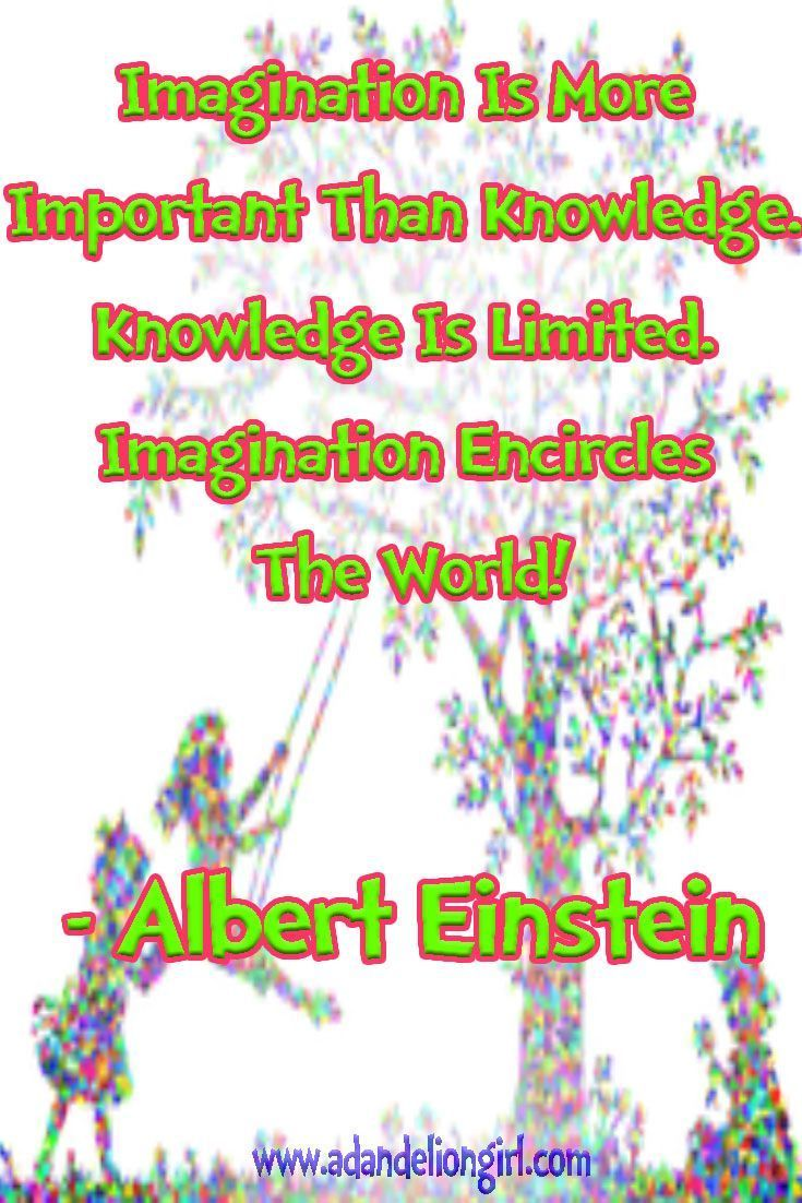 Children's Quotes - Imagination is more important than knowledge, knowledge is limited to all we now know and understand, while imagination embraces the entire world http://www.adandeliongirl.com/#!childrens-quotes/cy19