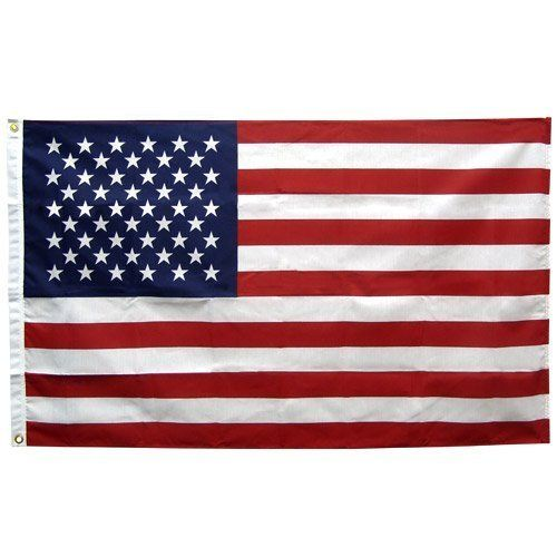 American Flag 2.5ft x 4ft Polyester Annin Made in the USA by ANNIN. $4.39. Annin® has been and continues to be a proud supplier of Made-in-the U.S.A. American flags. Annin® flags are made to the highest standards by the most experienced flag makers in the industry. Combining a strong canvas header, bright vivid appearance and durable construction, Annin flags are made to resist weathering and retain their structural integrity year after year. This 2-1/2' x 4' Patriotic...