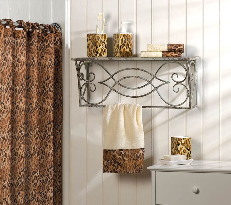 9 Piece Bathroom Set With Leopard Print   Turn your bathroom into a safari  of style with this attractive 9 Piece Bathroom Set With Leopard Print  ensemble. The 25  best Leopard bathroom decor ideas on Pinterest   Bathroom