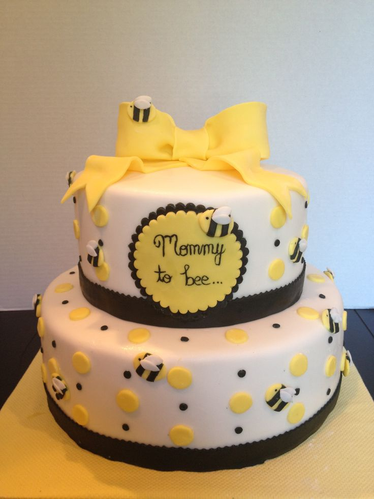 Mommy To Bee Cake Baby Shower Cakes Pinterest Gender