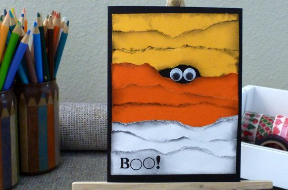 Mummy Boo Halloween Card  Handmade  4.25 x by LittleCornerofCrafts, $3.50