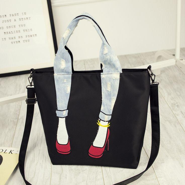 Women's cute messenger bag,leg heel style,casual bag for girls,lady's canvas bag