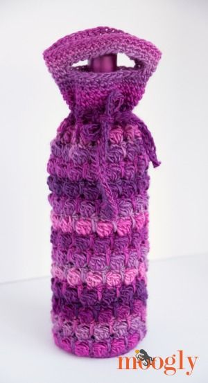 Grapey Goodness Wine Bag - crochet pattern by Moogly!