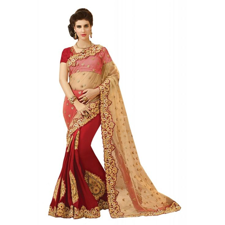 Make the heads flip whenever you costume up in this desirable Tan Brown Net Saree. The ethnic Lace & Patch Work work at the clothing adds a sign of attractiveness statement with your look.