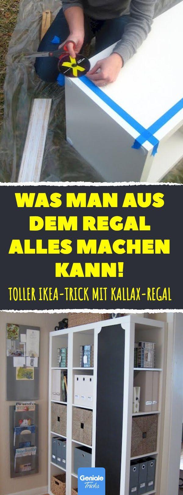 Dieser IKEA-Trick kostet keine 10 Euro. Aber das Ergebnis ist absolute Weltklasse. #ikea #trick #kallax #diy #regal –  –
