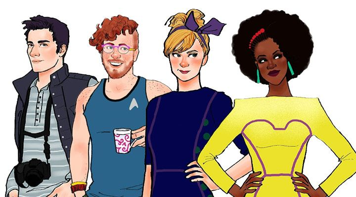 Cartoon characters all grown up
