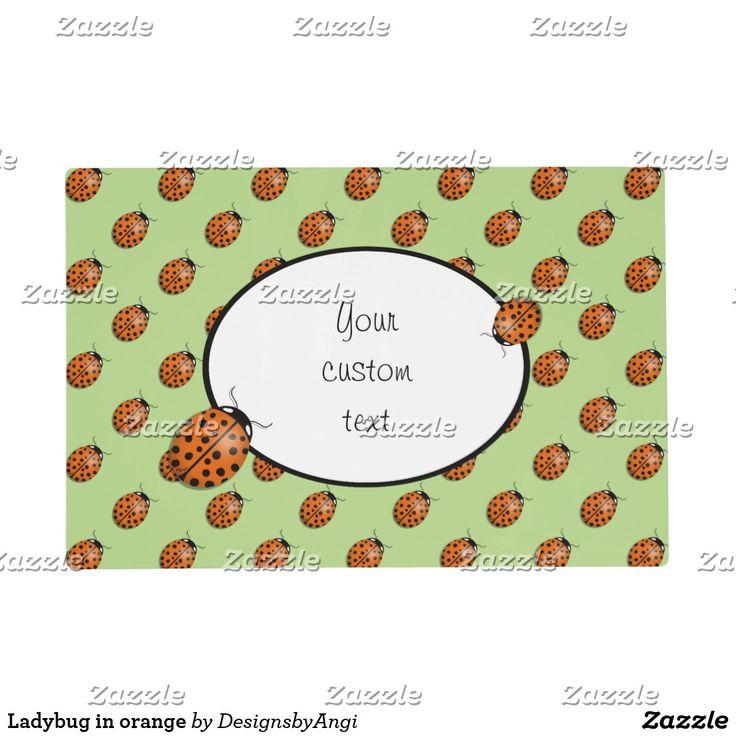 Ladybug in orange placemat