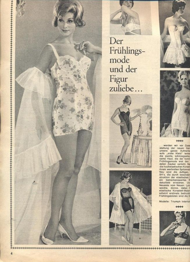 1960s lingerie and control wear from Triumph Germany ...