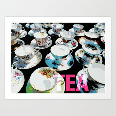 Pink Tea Art Print by Patti Friday - $17.68