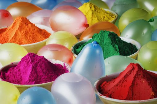 Some of the colors of Holi.