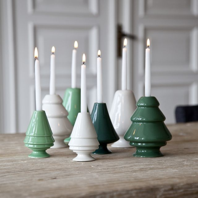 Avento Candlestick - A Snow covered Nordic Spruce, Danish designer, Marianne Nielsen