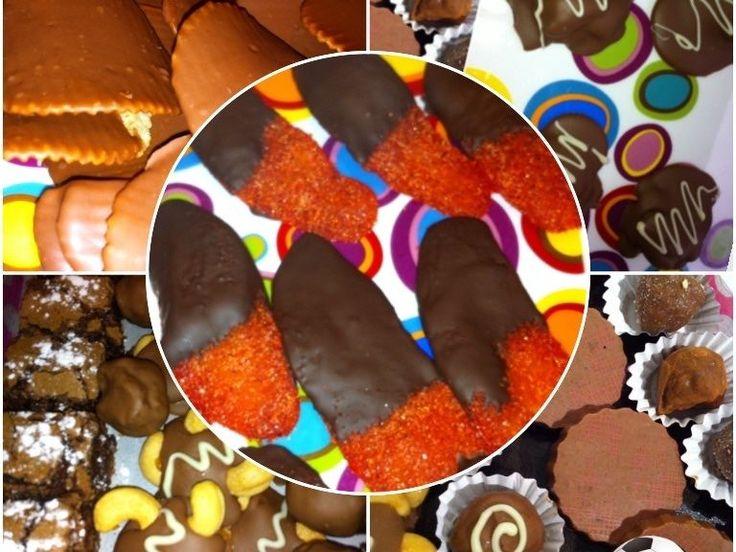 Chocolates artesanales 100% naturales sin conservadores desde enjambres bombones trufas brownies caramelo y nueces..