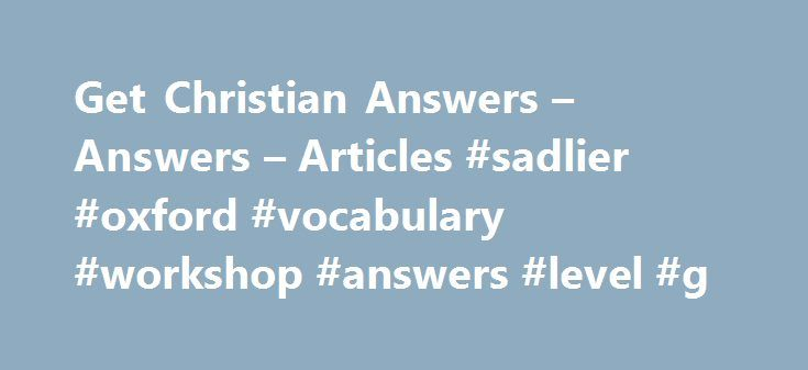 Vocabulary Workshop Level Answer