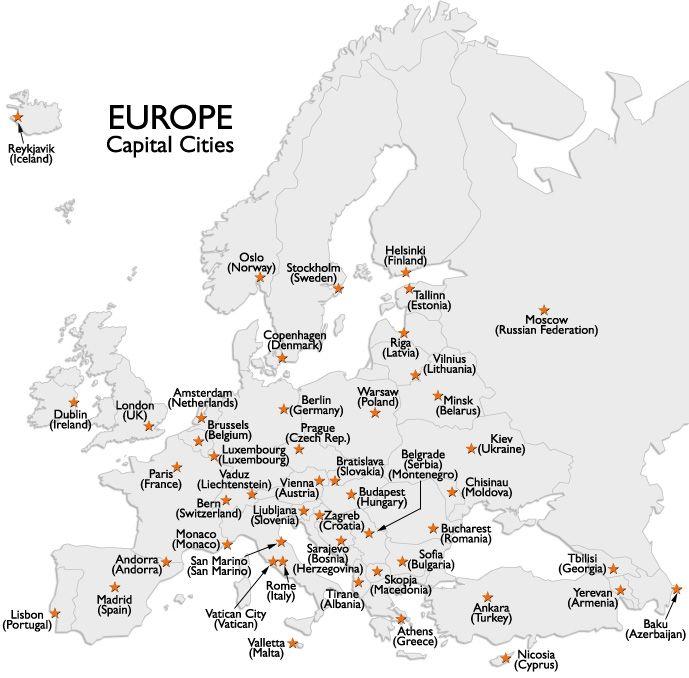 Harta Europei Tari Si Capitale