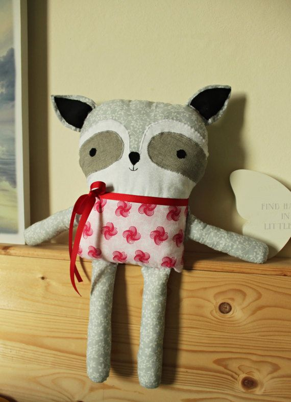 Handmade Raccoon Cushion
