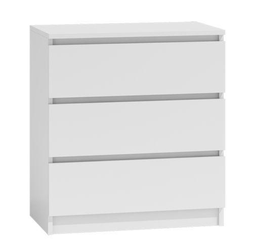 Kommode-mit-3-Schubladen-Sideboard-Mehrzweckschrank-Schrank-Anrichte-Weiss