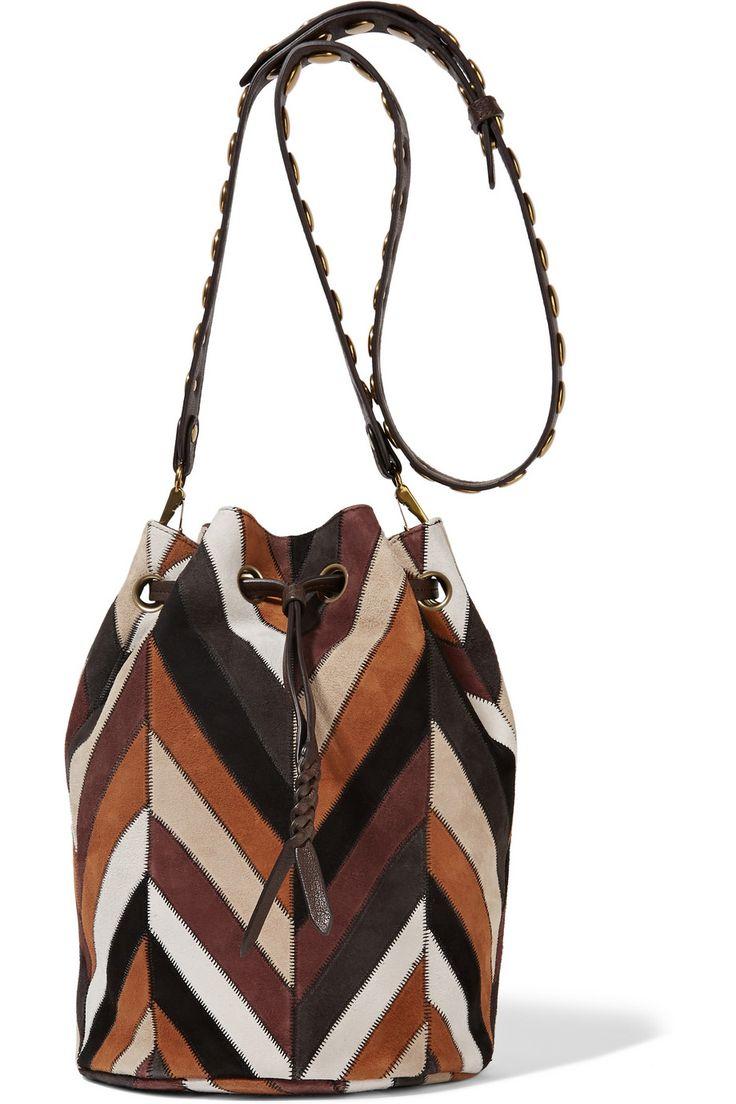 Жером Дрейфус | Попай полоску, замшевая сумка на плечо | NET-A-PORTER.COM