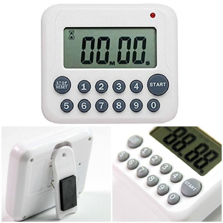 Cooking Digital Kitchen Timer Alarm Countdown Magnetic Loud Alarm Large Display #Evany