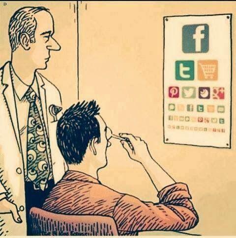 Your next eye doctor visit. #socialMedia