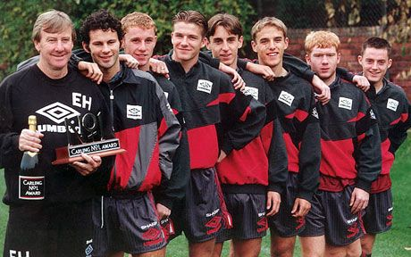 THEN... Manchester United class of 1992 reunion