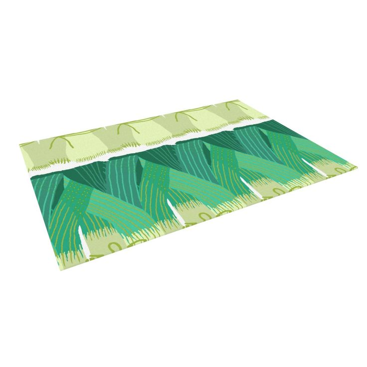 """Laura Nicholson """"Leeks"""" Indoor / Outdoor Floor Mat"""