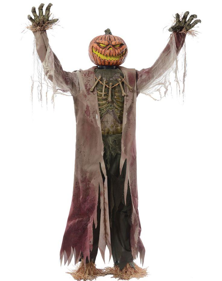 giant animated 7 foot pumpkin king halloween prop new 2013 - Spirit Halloween Props
