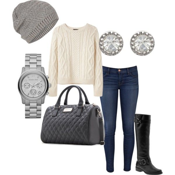 another day in town... by jnsn on Polyvore featuring polyvore, fashion, style, A.P.C., J Brand, MANGO, Michael Kors, Topshop and Stuart Weitzman