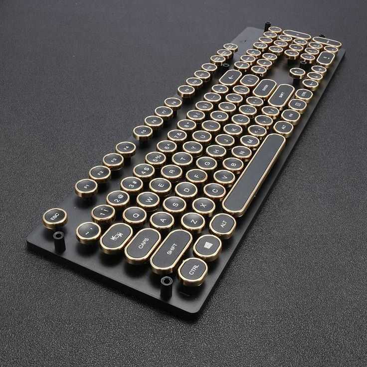 Steampunk Styled Typewriter Keycaps – Mechanical Keyboard Switch-Electronics