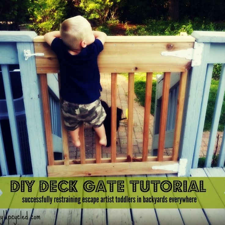 """DIY Deck Gate Tutorial - I've got 3 kids, and 3 dogs, 1 of each currently falls in the """"less than 2 years old"""" category, and let me tell you something that 1 ye…"""