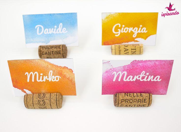 Segnaposto fai da te creato con tappi di sughero | Cute DIY placeholder made with corks • #DIY #placeholder #cork #corks