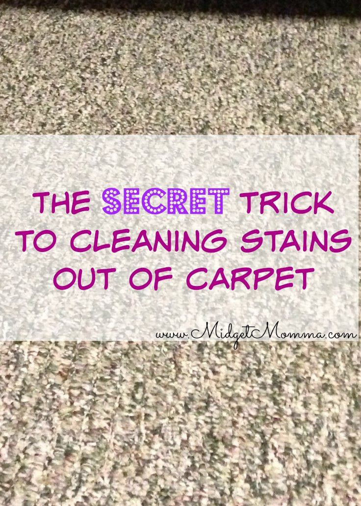 With a super simple secret trick you can get those horrible stains out of carpets! And it is SUPER easy and cheap! Have a tough stain in your carpet and you will LOVE this way of getting it out of your carpet with ease!