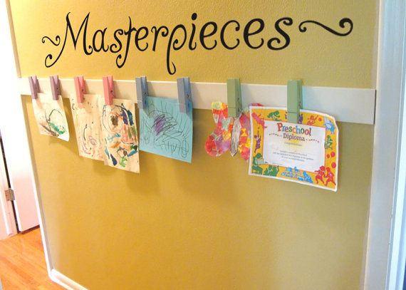 """MASTERPIECES Wall Decal Vinyl Wall Sticker For Kids ART Display Quote up to 42"""" wide on Etsy, $16.00"""