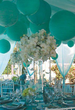 Свадьба в стиле Тиффани.