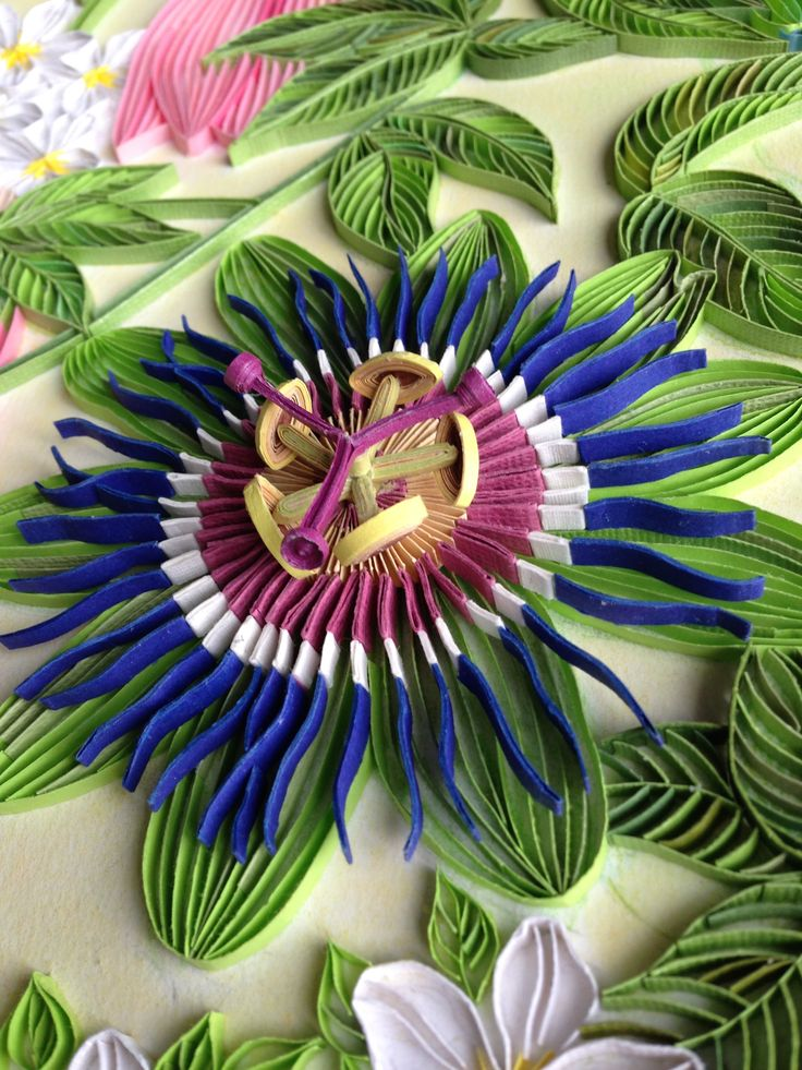 passion flower quilling