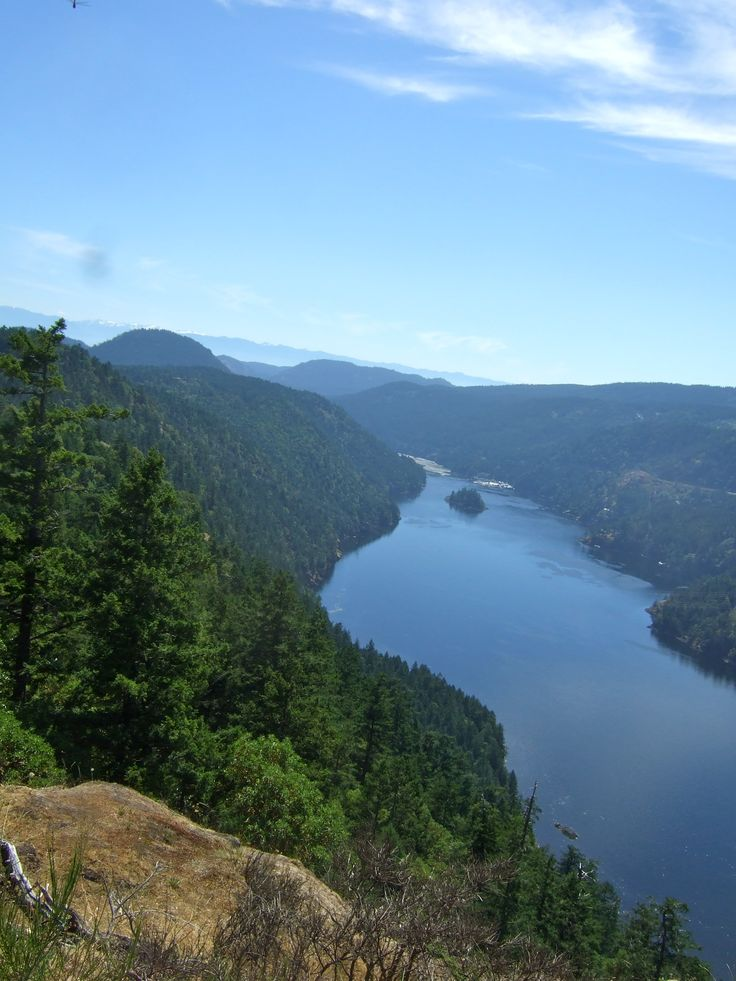Finlayson Arm - deepest fjord on the east side of Vancouver Island.
