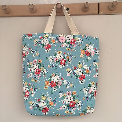 Handmade Personalised Cath Kidston Blue Clifton Rose Lunch Bag Insulated