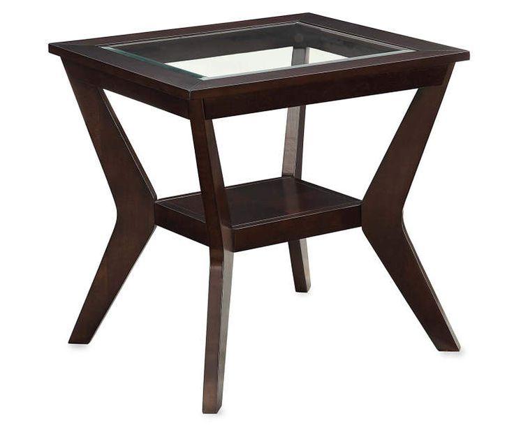 Espresso Beveled Glass End Table Silo Image