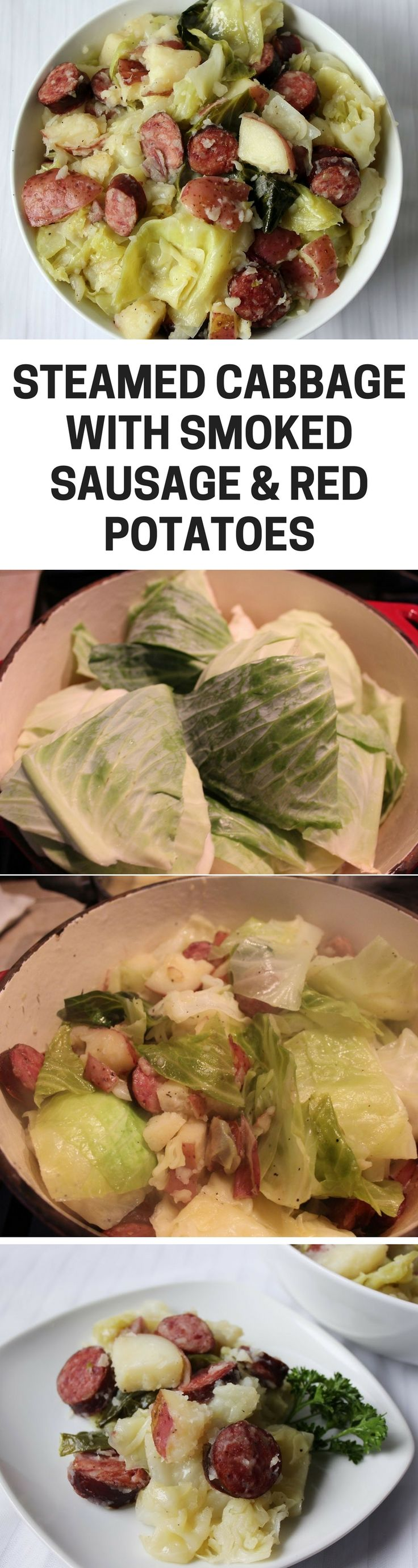 This cabbage recipe is seriously delicious. The sausage brings the recipe to a whole new level adding a fabulous smokey flavor. The starch from the potatoes adds great texture.
