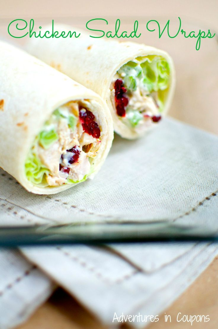 Chicken Salad Wraps - Jazz up a boring chicken salad for lunch and make these easy (and healthier!) chicken salad wraps! So tasty!
