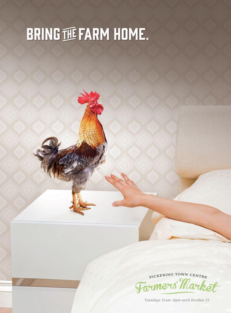 Pickering Town Centre Farmer's Market: Alarm Clock     Bring the farm home.  Advertising Agency: Elixir, Toronto, Canada