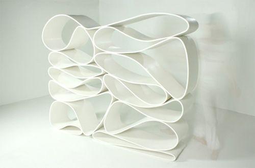 The Neverending Bookshelf by Luca NichettoLucas Nichetto, Design Milk, Bookshelf Design, Interiors, Book Shelves, Furniture, Unique Bookshelves, Neverending Bookcas, Creative Bookshelves
