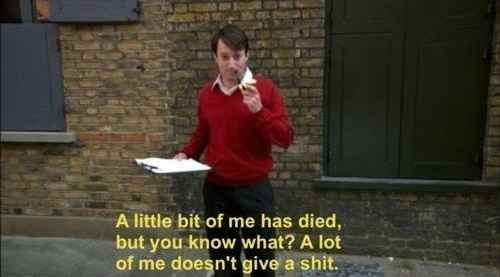 """And Not Giving a Shit 