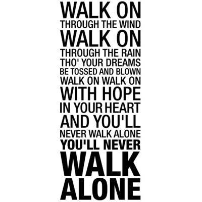 Wallsticker You'll never walk alone