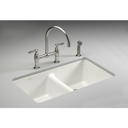 536 90 Kohler White Cast Iron Undermount Kitchen Sink